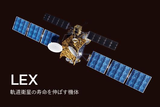LEX 軌道衛星の寿命を伸ばす機体